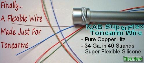 KAB SuperFlex Copper Litz Tonearm Wire